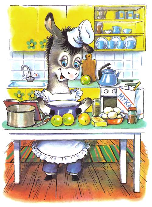 маффин печет пирог